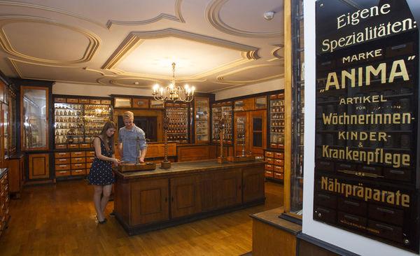 Biedermeier-Raum der Sellschen Apotheke im Stadtmuseum Deggendorf