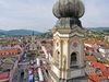 Blick auf den Stadtplatz von Deggendorf