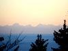 Blick vom Dreitannenriegel im Bayerischen Wald zum Alpenhauptkamm