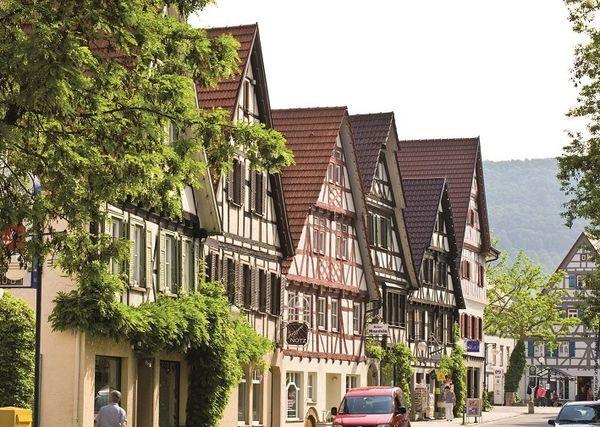Fachwerkhäuser in der Metzgerstrasse in Dettingen an der Erms