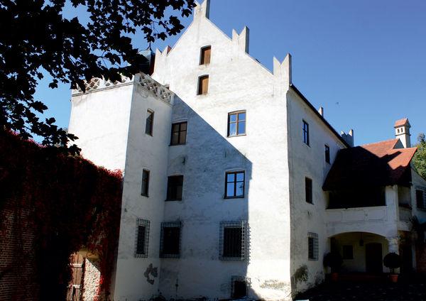 Der Innenhof im Schloss Teisbach