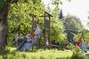 Kinderspaß auf einem Spielplatz im Zellertal