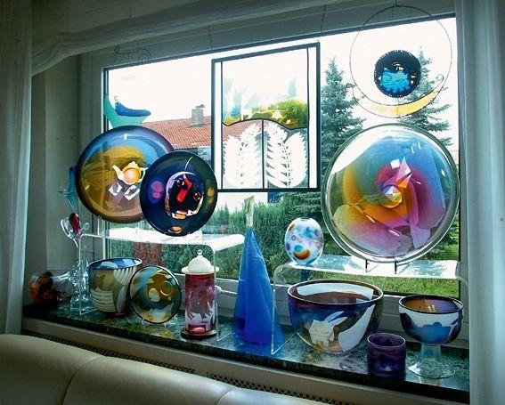 Glaskunst in der Glasgalerie Herrmann in Drachselsried im ArberLand Bayerischer Wald