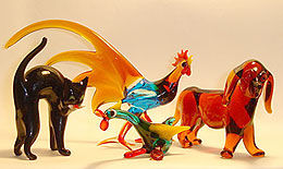 Glastiere aus dem Glasstudio Fuchs