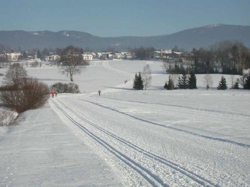 Die Talloipe im Langlaufzentrum Frath/Drachselsried im Bayerischen Wald