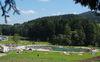 Blick auf das Naturbad Zellertal in Drachselsried im ArberLand Bayerischer Wald