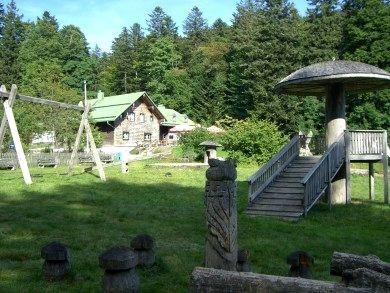 Die Berghütte Schareben bei Drachselsried im Bayerischen Wald
