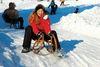 Rodelspaß für die ganze Familie beim Skilift Riedlberg bei Drachselsried