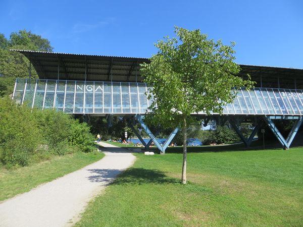 Die 'Blaue Brücke' am Echinger See
