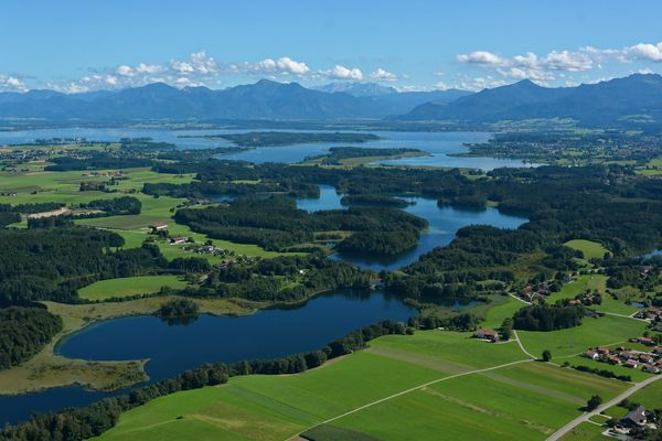 Der Schloßsee in der Eggstätt-Hemhofer Seenplatte