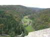 Ausblick von der Burgruine Wartstein ins Lautertal