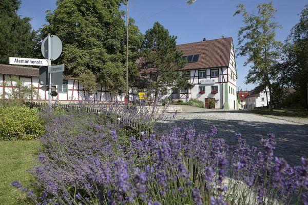 """Ortsteil Reute mit Nebeneinstiegsportal """"Krebsbachputzer"""""""