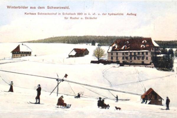 Der erste Skilift der Welt in Eisenbach