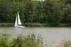 Bucher Stausee mit Segelboot