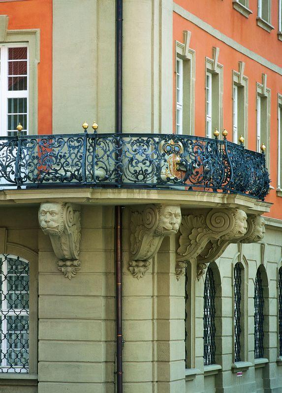 Balkon Landgericht - ehemaliges Stiftsrathaus
