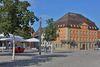 Marktplatz mit Landgericht in Ellwangen