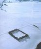 Kastell Halheim-Luftansicht, Winteraufnahme