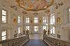 Schoss Ellwangen_Treppenaufgang zum Museum mit Fresko