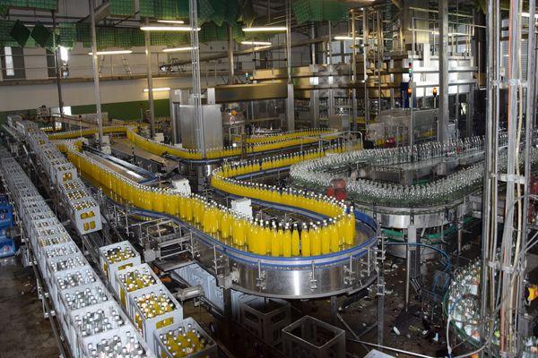 Abfüllanlage in der Brauerei Horneck in Elsendorf
