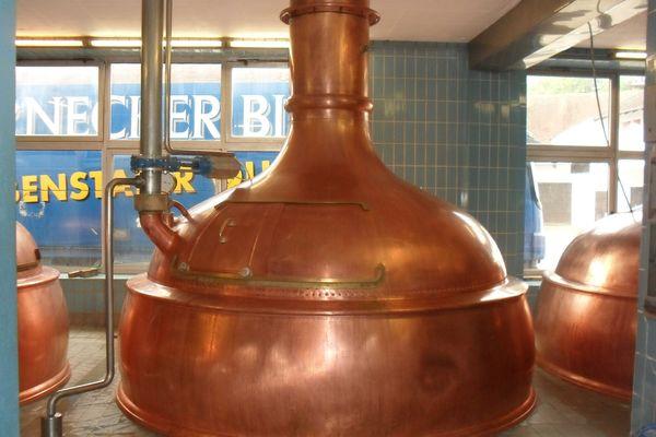 Sudkessel in der Brauerei Honreck in Elsendorf