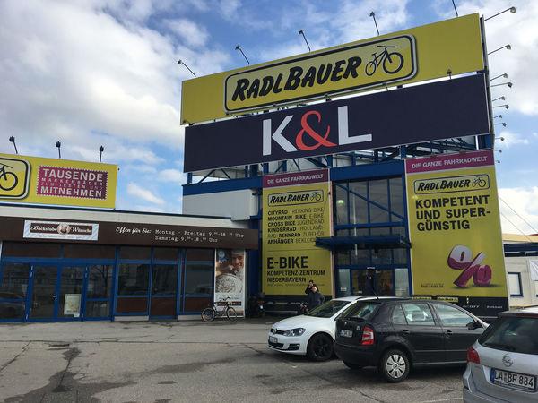 Das Fahrradfachgeschäft Radlbauer in Landshut-Ergolding