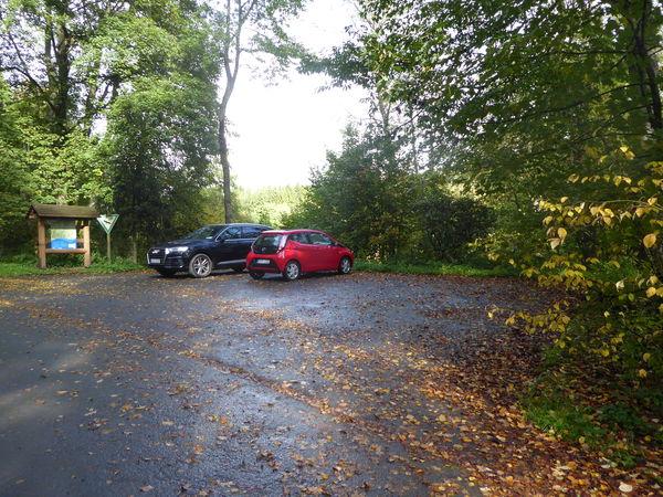 Ausgangspunkt für viele Wanderungen - der Wanderparkplatz Röspe.