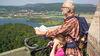Blick vom Bismarckturm auf den Werratalsee