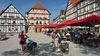 Radfahrer am Markt in Eschwege