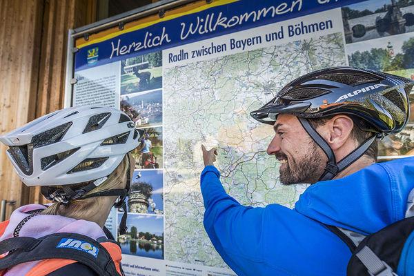 Gut markiertes Radnetz rund um Eslarn