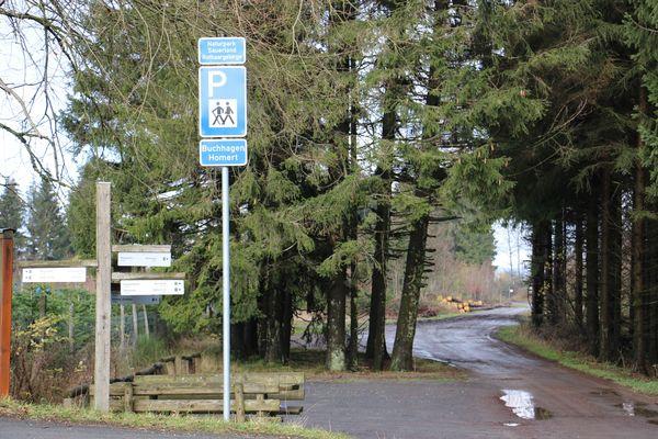 Der Wanderparkplatz Buchhagen/Homert