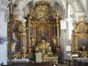 Innenansicht der barocken Pfarrkirche Heilig Geist in Essing im Altmühltl