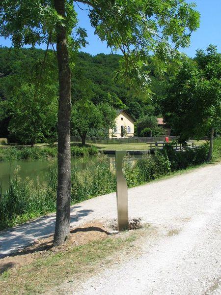 Hörpunkt am Ludwig-Donau-Main-Kanal in Altessing im Altmühltal