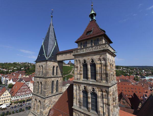 Brücke der Stadtkirche St. Dionys in Esslingen am Neckar