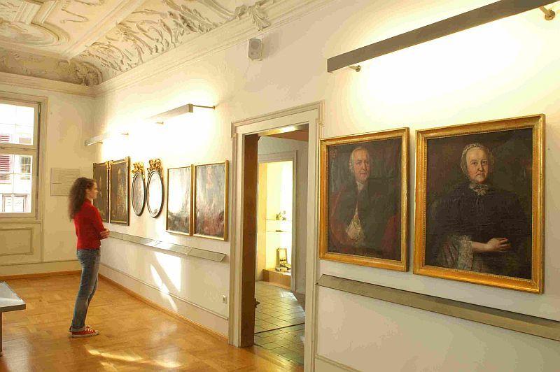 Innenansicht des Esslinger Stadtmuseums im Gelben Haus