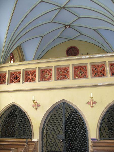 Empore mit Netzgewölbe in der St. Anna Kirche Unterbruck bei Fahrenzhausen