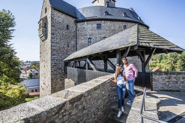 Burg Falkenberg im Oberpfälzer Wald.
