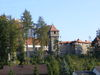 Blick auf die mittelalterliche Burg Falkenfels im Bayerischen Wald