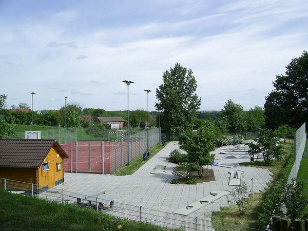 Freizeitgelände am Schwaren See in Falkenhagen (Mark), Foto: Angelika Voigt
