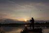 Sonnenuntergang, Angler, Foto: Florian Läufer