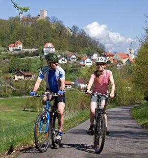 Radeln auf dem Radweg Regensburg - Falkenstein