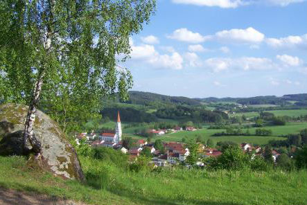 Blick auf den Luftkurort Falkenstein im Bayerischen Wald