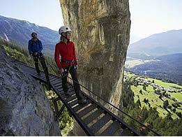 Klettersteig Pinut : Klettersteig pinut surselva