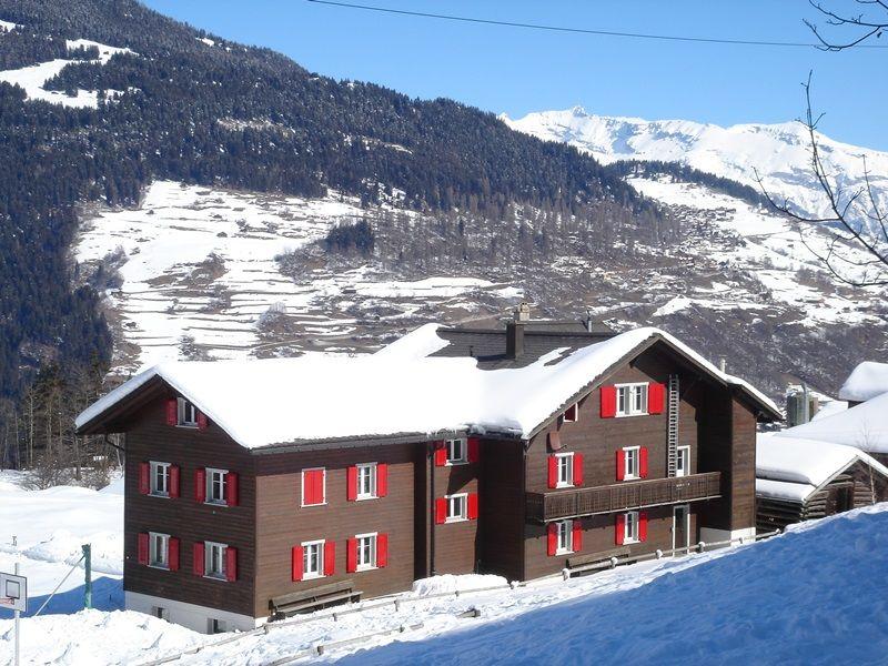 Aussensicht Ferienhaus Camelc Flond Winter