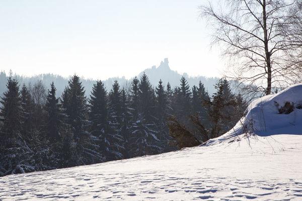 Winterlandschaft mit Blick auf Flossenbürg