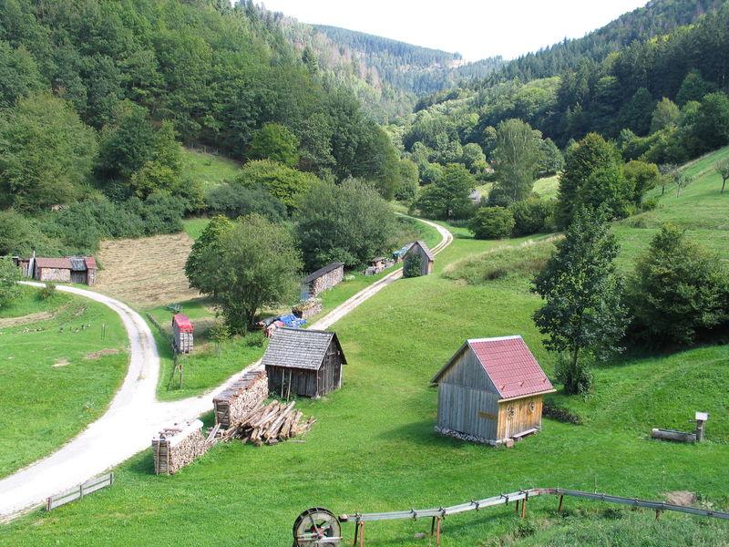 Heuhütten im Kauersbachtal bei Forbach