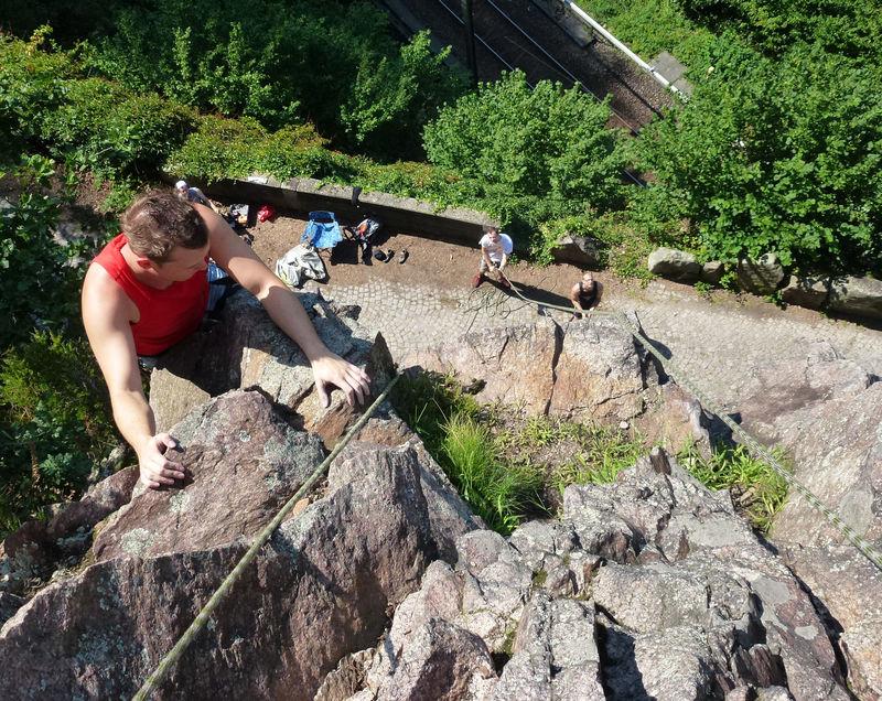 Kletterer in Gausbach