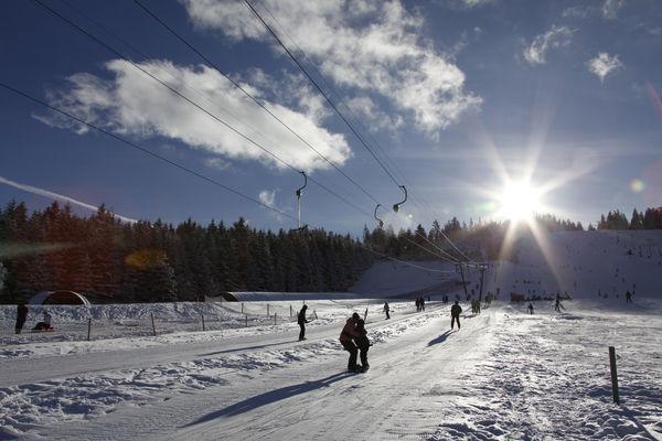 Skilift am Mehliskopf bei Forbach