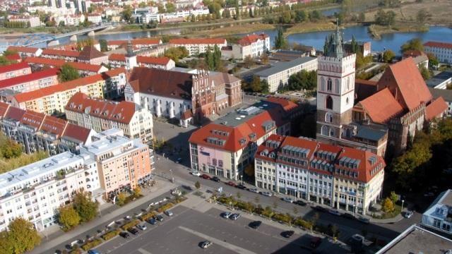 Frankfurt (Oder) und Slubice - Panorama, Foto: Baldauf