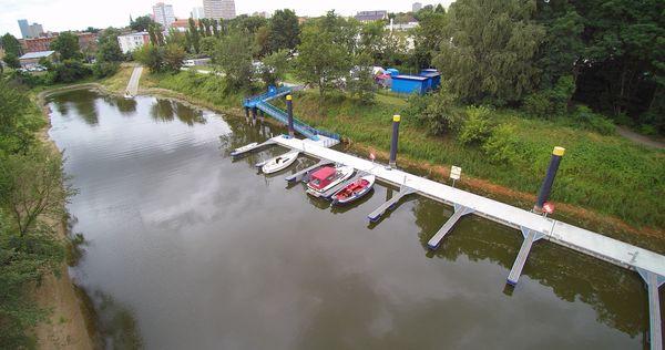 Sportboot Marina am Winterhafen, Foto: Dr. Jens P. Kroll