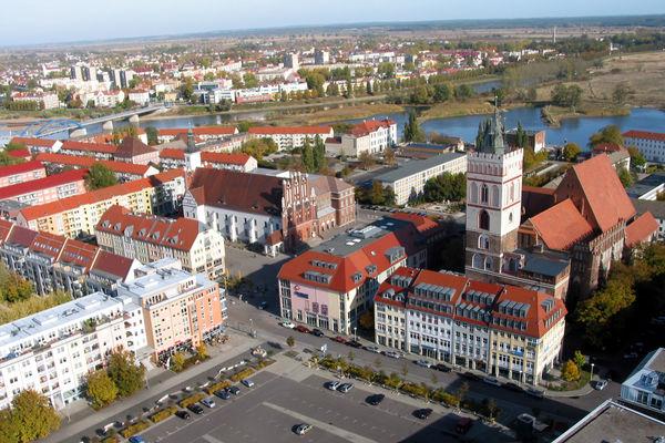 Panorama Frankfurt (Oder) und Slubice, Foto: Messe- und Veranstaltungs GmbH